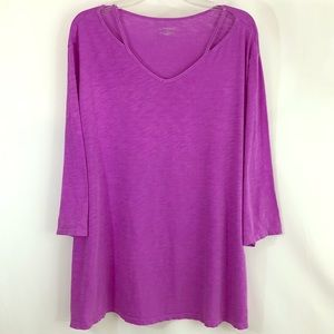5X 30/32 Cheerful Purple Strap Neckline Tunic